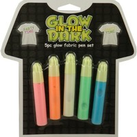 6 Pack of Glow in the Dark Fabric Paint Tubes