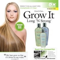 Want Longer Hair? Want Stronger Hair? Grow Hair Fast! Buy Long 'N Strong® - Complete Treatment Set