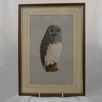 Barred Owl #1. Original artwork by wildlife artist Bev Lewis.