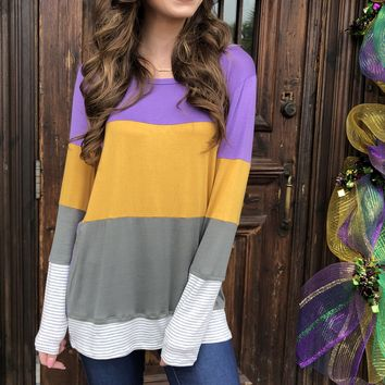 Carnival Time Wide Striped top