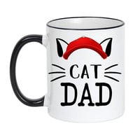 Cat Dad, Cat lover Gift, Cat Dad Mug, Cat Mug, Crazy Cat Dad, Cat Dad Gift, Pet owner gift, Funny Cat Mug, Cat Owner, Fur Dad, Pet Dad