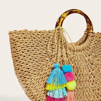 Pom-pom & Tassel Bag Accessories