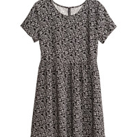 H&M - Patterned Dress - Black - Ladies