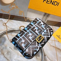 Fendi Trendy Fashion Small Square Bag Shoulder Messenger Bag
