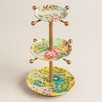 Three-Tiered Enamel Jewely Stand