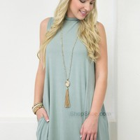 Bamboo Pocket Dress | Sage