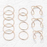 Curved Open Midi Ring Set