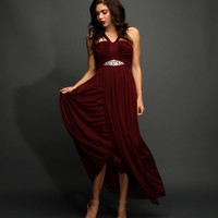 Mandisa-burgundy Formal Dress