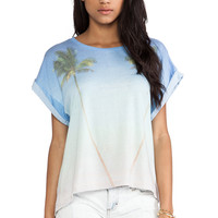 Wildfox Couture Vacation Forever Boy Tee in Blue