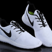 custom Nike Roshe run white and black