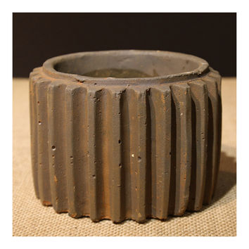 Loft Vintage Industrial Gear Ashtray Succulent Pot   small