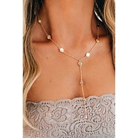 Together Now Lariat Necklace (Gold)