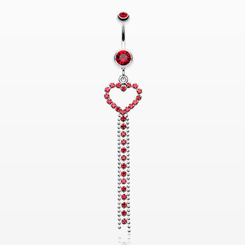 Luxuriant Heart Belly Button Ring