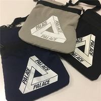 Palace New Fashion Women And Men Small Shoulder Bag Triangle Print bag Three Color