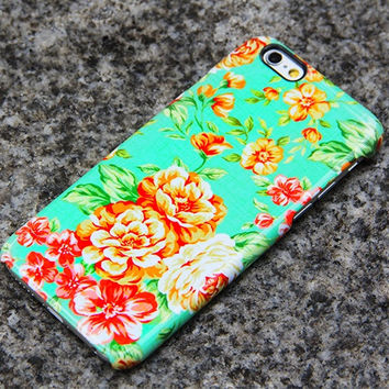 iPhone 6 Case Floral iPhone 6 plus Case Peonies iPhone 5S 5iPhone 5CiPhone 4S/4 Case Samsung Galaxy S6 edge S6 S5 S4 S3 Note 3 Case- 019