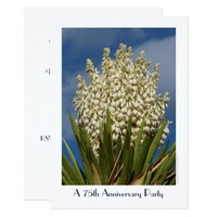 75th Anniversary Party Invitation Flowering Yucca