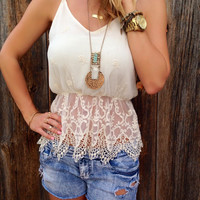 Love & Lace Babydoll Top