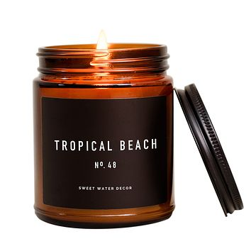 Tropical Beach Soy Candle | Amber Jar Candle