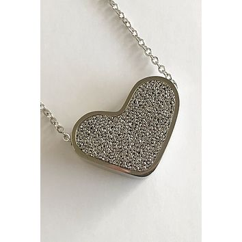 Sacred Silver Heart Perfume Necklace