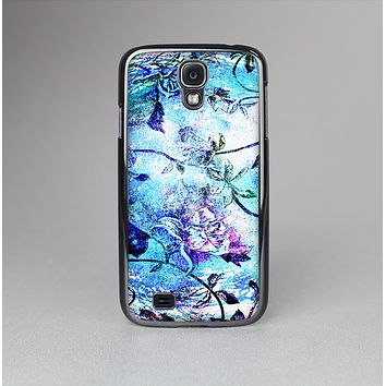 The Black & Bright Color Floral Pastel Skin-Sert Case for the Samsung Galaxy S4