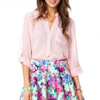 Pure Chiffon Blouse in Bloom - ShopSosie.com