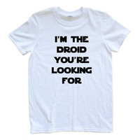 """Apericots """"I'm the Droid You're Looking For"""" Star Wars Starwars Inspired Adult T Shirt"""