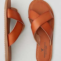 AEO CROSS-STRAP SLIDE SANDALS