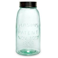 Half Gallon Mason Jar with Lid