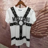 "Moschino ""Braces"" Fashion Women T Shirt"