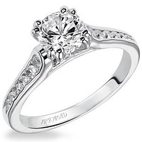 "Artcarved ""Kimberly"" Double Prong Head Channel Set Diamond Engagement Ring"