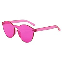 Candy Color Flat Sunglasses