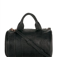 Black Rocco In Pebbled Black With Rose Gold - Alexander Wang
