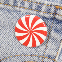 Peppermint Swirl 1.25 Inch Pin Back Button Badge