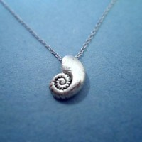 Little Mermaid, Ariels Voice Shell, Vintage, Silver Plated, Necklace
