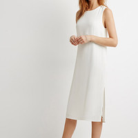Side-Slit Textured Shift Dress