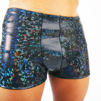 Men's Holographic Pouch Shorts  Hot Pants  by DancingTreeCreations