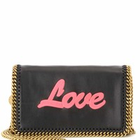 Falabella Love embroidered shoulder bag