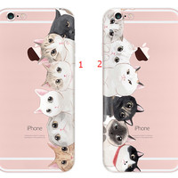 3D Cat Case Cover for iPhone 7 7 Plus & iPhone se 5s 6 6s Plus +Gift Box