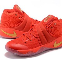 DCCK Nike Kyrie Irving 2 Red/Gold Basketball Shoe