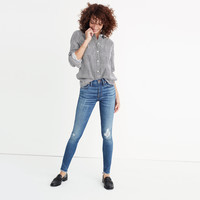 """9"""" High-Rise Skinny Jeans in Allegra Wash: Rip and Repair Edition : shopmadewell high-rise skinny jeans 