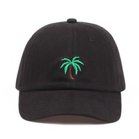 Trendy Winter Jacket 2018 new Embroidery Palm Trees Curved Dad Hats Take A Trip Baseball Cap Coconut Trees Hat Strapback Hip Hop Cap Adjustable AT_92_12