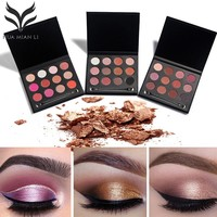 Huamianli Makeup Eyeshadow Palette 1pcs 12 colors Matte&Shimmer Smoky Eye Shadow Palette