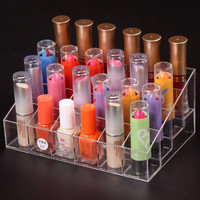24 Lipstick Holder Display Stand Clear Acrylic