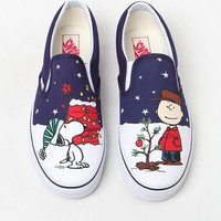 Vans x Peanuts Holiday Classic Slip-On Shoes at PacSun.com