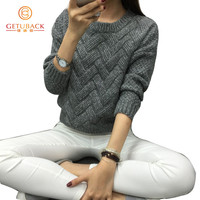 women fashion 2016 spring sweaters basic casual knitting winter Pullover KB911