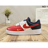 NIKE Air FORCE 1 trendy mixed-color casual high quality retro shoes F-A36H-MY NO.1