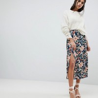 Lily and Lionel Midi Skirt with Side Split at asos.com