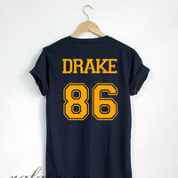 Drake Drizzy Shirt Drake 86 Tshirt Navy Color Unisex Size - RT58