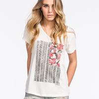 Volcom Floral Flag Womens Tee Cream  In Sizes