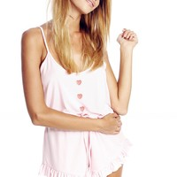 Heart Buttons Pajama Romper